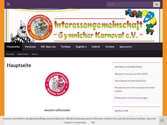 Screenshot von http://gymnicher-karneval.de/